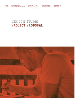 Orange Creative Studio Business Proposal with Man Forslag