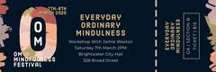 om mindfulness festival ticket Event Ticket