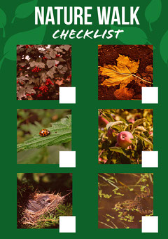 Green Leaf Detail Nature Checklist A4 Print Poster Nature
