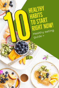 Green Healthy Eating Habits Guide Pinterest  Guide