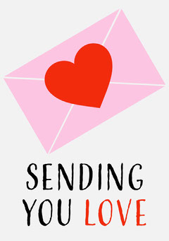Sending You Love Card Love