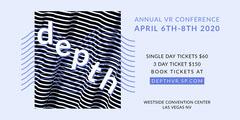 depth vr stripes eventbrite banner Seminar Flyer