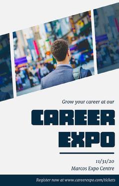 Orange & White Career Expo Poster Job Poster