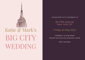 Big City Wedding Save the Date Card