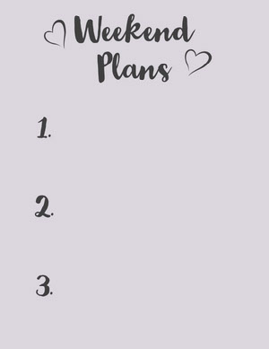 Pink Weekend Personal Planner with Hearts Planificateur
