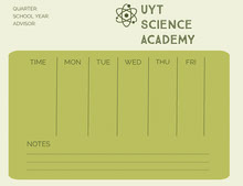 Green Science Academy Weekly Schedule 일정
