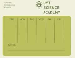Green Science Academy Weekly Schedule Science