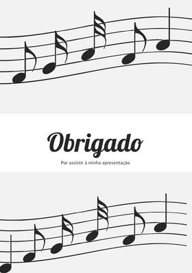 music recital thank you cards  Cartão de agradecimento