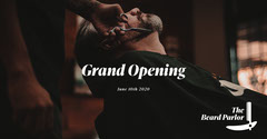 Beard Parlour FB post Grand Opening Flyer