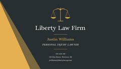 Black Yellow Law Firm Business Card Business