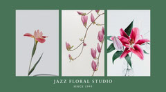 green and white floral studio twitter Jazz