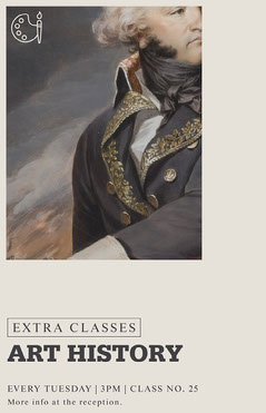 Grey, Light Toned, Art History Extra Classes, Poster History