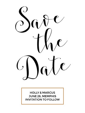Black and White Save the Date Wedding Invitation Card Annonce de mariage