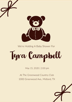 Black and Brown Baby Shower Invitation Baby Shower (Boy)
