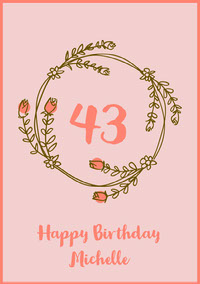 Pink and Green Happy Birthday Card Birthday Cards for Mother