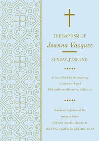 Joanna Vasquez  Convite de batizado