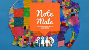 Multicolored School Project Presentation Slide with Elephant Presentation