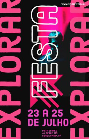festival event poster  Pôster de evento