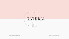 Natural Organic Beauty Business Card Beauty