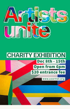 Colorful Geometric Charity Art Exhibition Poster Art Exhibition