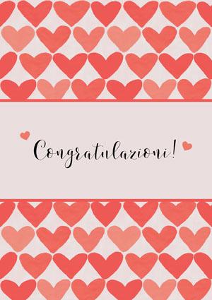 heart patterned congratulations cards Biglietto di congratulazioni