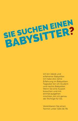 babysittingflyers  Flyer