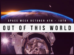 White and Black Space Week Event Instagram Graphic Earth