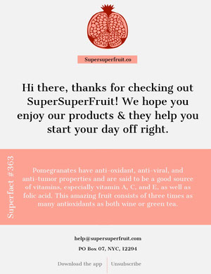 Super fruit Newsletter  Newsletter