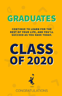 Yellow and Blue Graduation Poster Graduation Congratulation