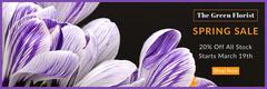 florist spring sale web banner  Promotion