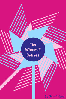 Pink and White Windmill Diaries Book Cover Book Cover