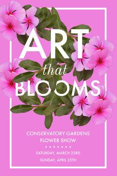 Pink Floral Botanical Garden Flower Show Pinterest Ad Art Show