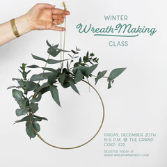 wreath making class instagram Winter