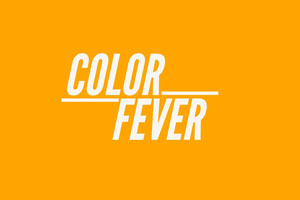 Orange Color Fever Business Brand Logo  Etichetta