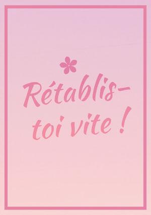gradient pink get well soon cards Carte de bon rétablissement