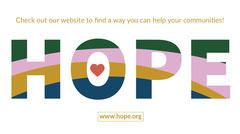 Multicolored Community Volunteer Twitter Post Graphic Volunteer
