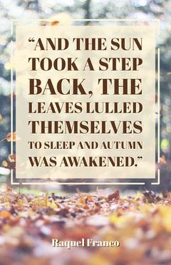 Warm Tones Autumn Quote Poster Autumn