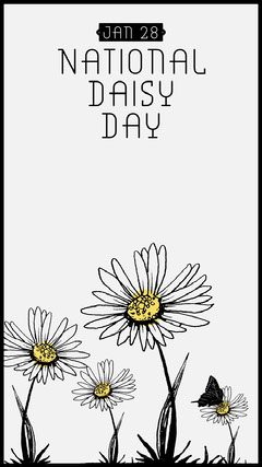 national daisy day instagram story Nature