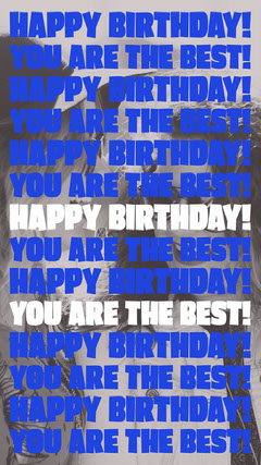 Happy birthday! You are the best! <BR>Happy birthday! You are the best! <BR>Happy birthday! You are the best! <BR>Happy birthday! You are the best! <BR>Happy birthday! You are the best! <BR>Happy birthday! You are the best! <BR>Happy birthday! You are the best!  Friends
