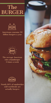 Brown Illustrated Burger Food Infographic Infografica