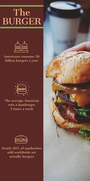 Brown Illustrated Burger Food Infographic Infographic Examples