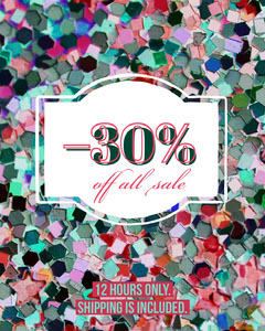 Multicolored Flash Sale Instagram Social Post Ad Sale Flyer