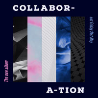Blue and White Collabor Instagram Graphic Album Cover