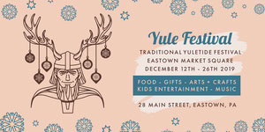 Pink and Blue Yule Festival Eventbrite Music Banner