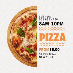 Black and Orange Pizza Delivery Instagram Square Pizza