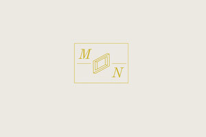 Gold Business Brand Logo with Rectangle and Geometric Shape Label
