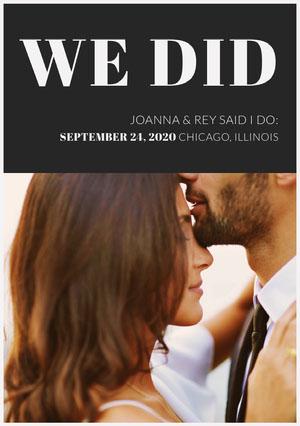 Beautiful Wedding Announcements.Customized Wedding Announcements Templates Adobe Spark