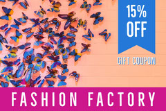 Orange and Pink Fashion Factory Coupon Gift Card
