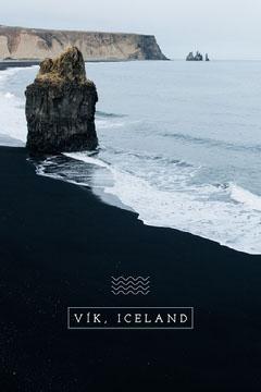 Blue Vik Iceland Postcard Ocean