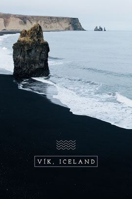 vik Iceland postcard Cartão-postal